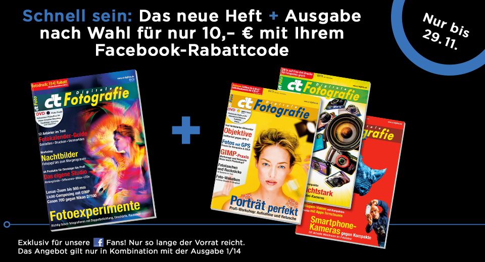 Facebookaktion Digitale Fotografie - 2 Ausgaben fur 10 Euro